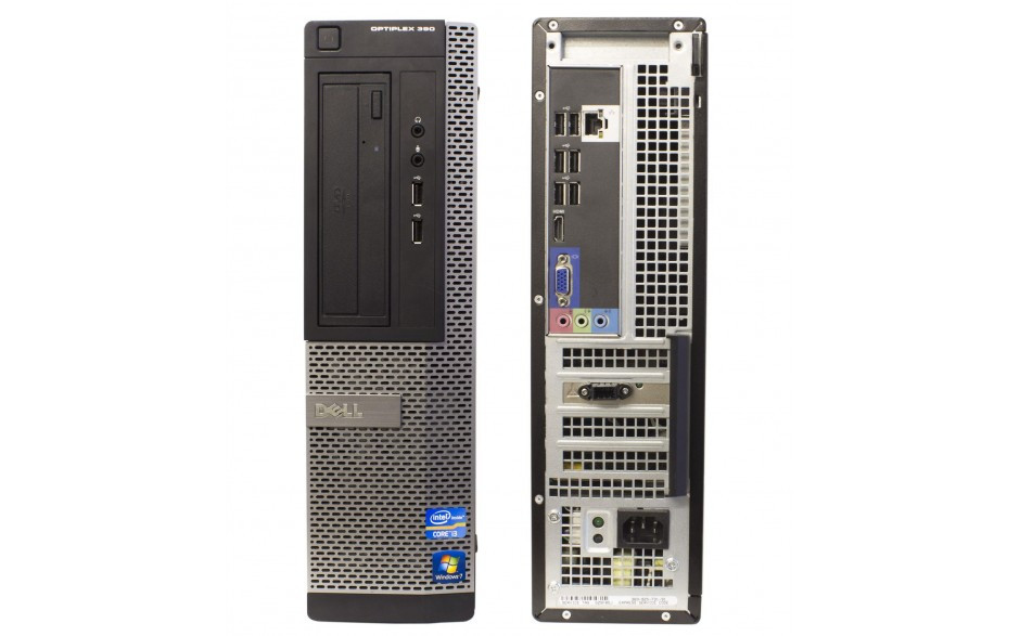 Dell Optiplex 390 - Core i3 DT - Front and Back interface View