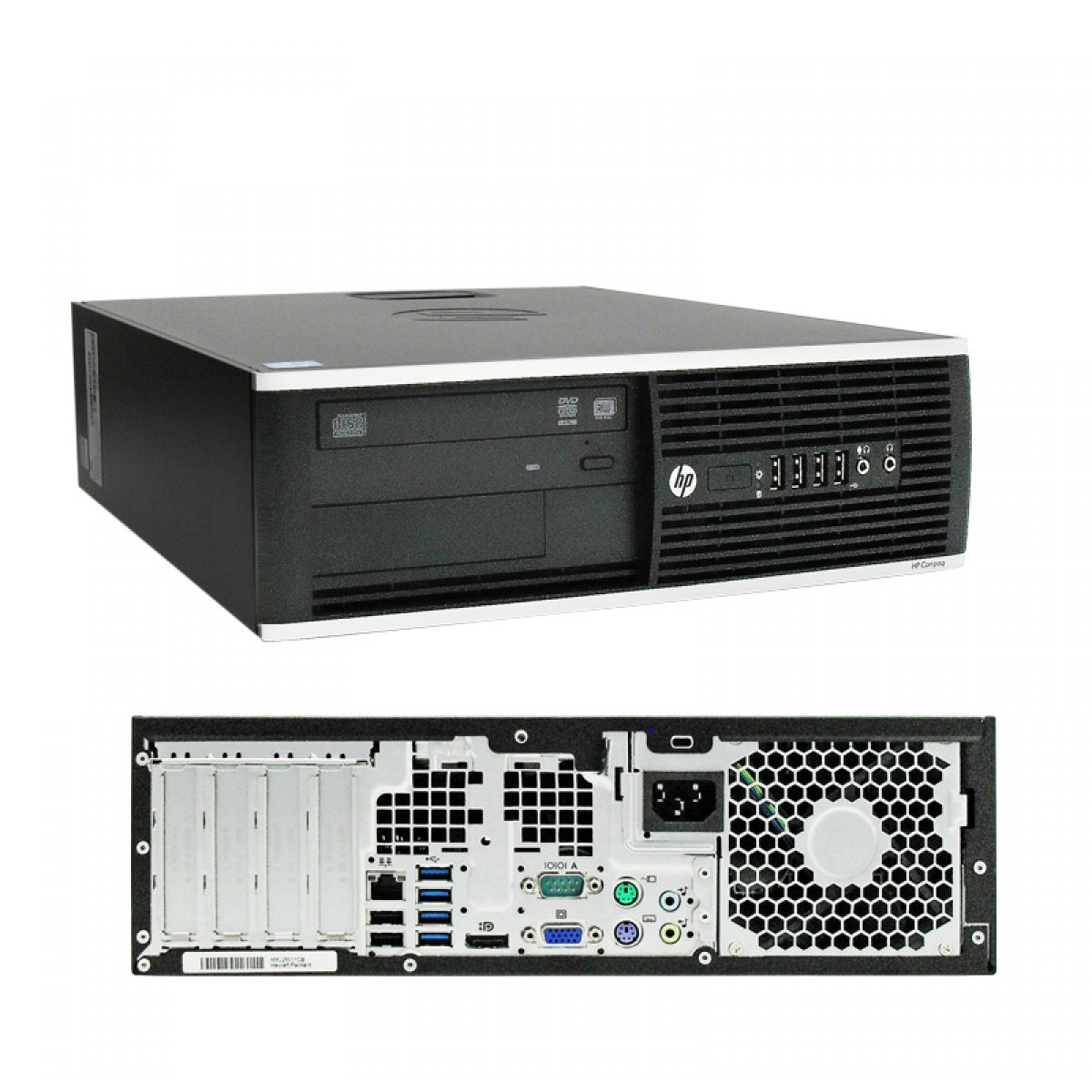 HP Elite 8300  - front and back view