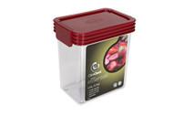 Kitchen Essentials .9 Qt. Container - Red