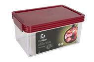 ClickClack Airtight Storer 2qt. - Red