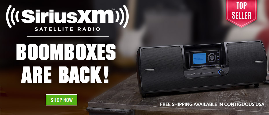 Boomboxes are in-stock