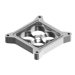 "SP4150-1AL - 1"" tall aluminum Super Sucker Shear plate for 4150 series carbs"
