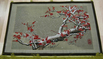 Chinese Hand Knotted Tapestry 135 x84 cm