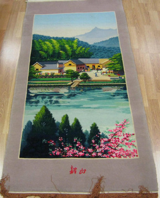 Chinese Hand Knotted Tapestry 162 x76 cm