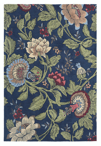 Wedgwood Passion Flower Navy 37118