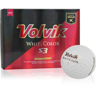 Volvik S3 White Colored Golf Balls