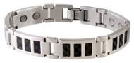 Sabona Black Carbon Fiber Magnetic Bracelet # 350