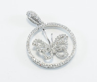 Sparkling Cubic Zirconia All Around the Butterfly and Its Wings