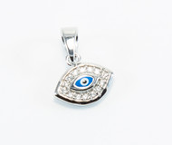 Enamel Eye with Micro Pave Cubic Zirconia