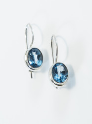 Two Carats of Oval-Cut Blue Topaz