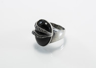 Real Black Onyx and Swiss Cut Marcasites