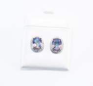 Micro Pave Mystic Topaz Earrings