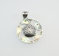 Round Paua Shell Pendant