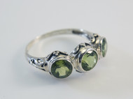 Beautiful Peridot and Handmade Balinese Design