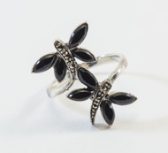 Black Onyx and Marcasite Butterflies