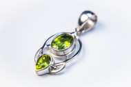 Genuine Oval-Shaped and Pear-Shaped Peridot