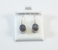 Oval-Shaped Natural Labradorite Dangling Earrings