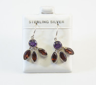 Genuine Round-Shaped Amethysts and Marquise-Shaped Garnets