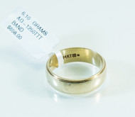 14 KT Gold Line Pattern Band with High Polish