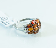 14 KT White Gold and Genuine Madera Citrine