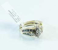 14 KT Gold Diamond Bridal Set