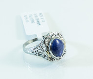 14 KT White Gold Vintage Lapis Ring
