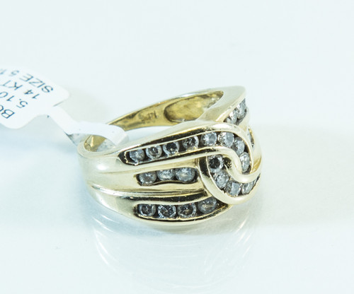 14 KT Gold Channel Set Diamond Ring