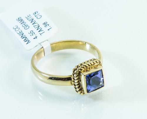 18 KT Gold Tanzanite Original Jewelry As Art Design