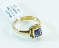 18 KT Gold Tanzanite Original Jewelry As Art Design