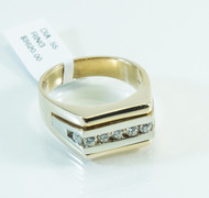 14 KT Gold Band Diamond Ring