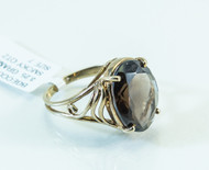 10 KT Gold Smoky Quartz Ring