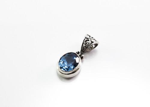 Genuine Oval-Shaped Blue Topaz