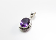 Oval-Shaped Amethyst with Filigree