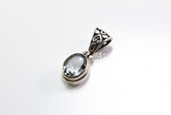 Genuine Oval-Shaped Green Amethyst