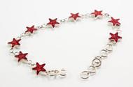 Natural Coral Star Bracelet