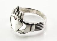 Pointy Silver Claddagh Ring