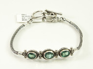 Oval-Shaped Natural Emerald Bracelet