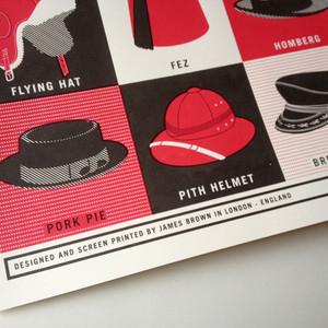 A Dozen Headwear Styles for Gentlemen - Limited Edition Print