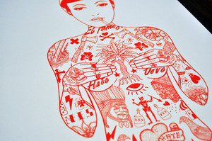 Tat Girl Red - Limited Edition Print