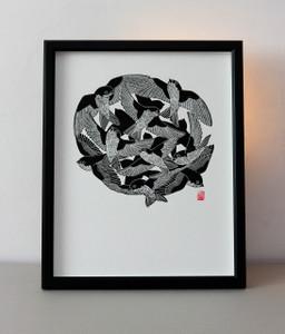 House Martin - Limited Edition Lino Print