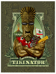 Tikinator [Note Card Set of 6]