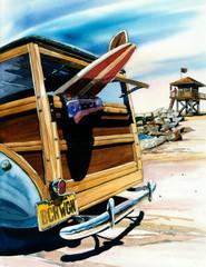 Beach Wagon [PRINT 12 x 16]