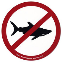 NO SHARKS [Decal/Sticker Pack of 3]