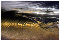 "Our SurfART Photographer Scotty Carter has captured this 1"" tall Miniature Wave  with his special technics that took him years of trial & error to develop and master this unique perspective that we would not normally be able to see and is now available for you to enjoy in your home or office. This great big Photo on Canvas was created by the Giclee Imaging Process onto Canvas and can be stretched onto  regular stretcher bars for framing or onto a 1.25""stretcher bars in the Gallery Wrap format not requiring a frame.  This 38""x25"" Photo on Canvas is un-stretched and is shipped rolled in a tube."