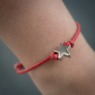 Cord Bracelet - Red with Star Charm