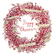 Red Berry Wreath (red foil) - online offer