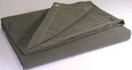 10' X 18' c/s 12.41 oz.. Flame Resistant Canvas Tarp W/Grommets 24'' Apart