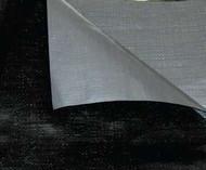 24' X 24'  Off-White Flame Retardant 12 Mil Reinforced Poly Tarp W/ Grommets 24'' Apart