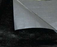 50' X 50' White/Silver Poly Tarp W/Rope In Hems W/Grommets 24'' Apart