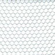 12' X 48' c/s # 8600 White 1/2'' Mesh Tarp W/ Web Hem & Grommets 24'' Apart W/ Pocket Rear